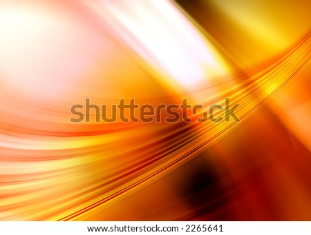 orange abstract composition - stock photo