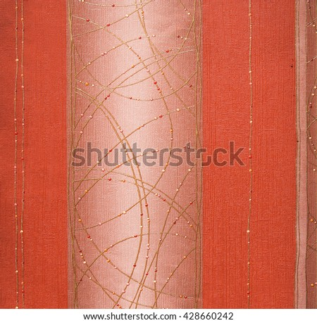 ORANGE, ABSTRACT RAISED LINE PATTERN ON ROUGH PAPER , BACKGROUND