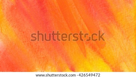 Orange Abstract watercolor texture background. Hand paint texture, watercolor textured backdrop. - stock photo