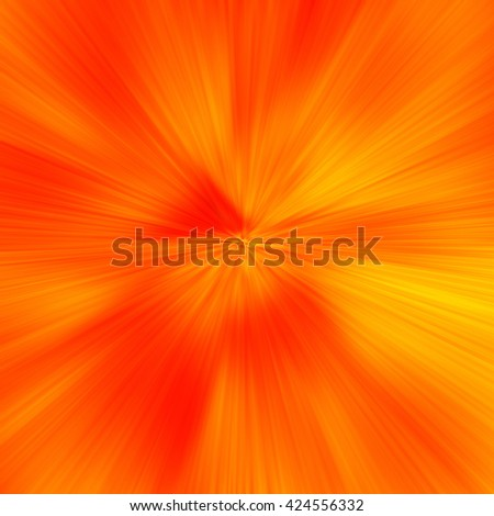 Orange Abstract Zoom Motion background