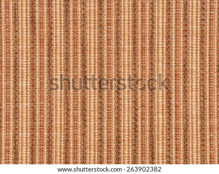 Orange and beige synthetic woven carpet for texture or background - stock photo