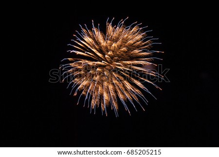 Orange and Blue Fireworks