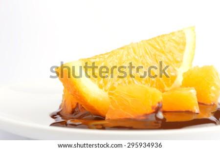 Orange and Chocolate - stock photo