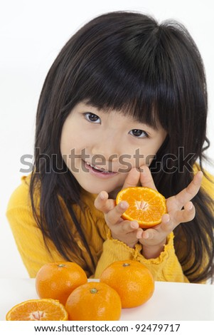 orange and girl