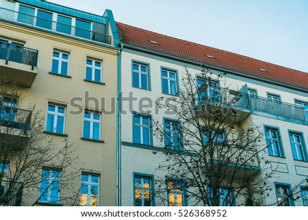 apartment house exterior round shaped staircase stock photo 536206663 shutterstock. Black Bedroom Furniture Sets. Home Design Ideas