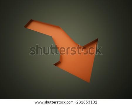 Orange arrow business concept rendered - stock photo
