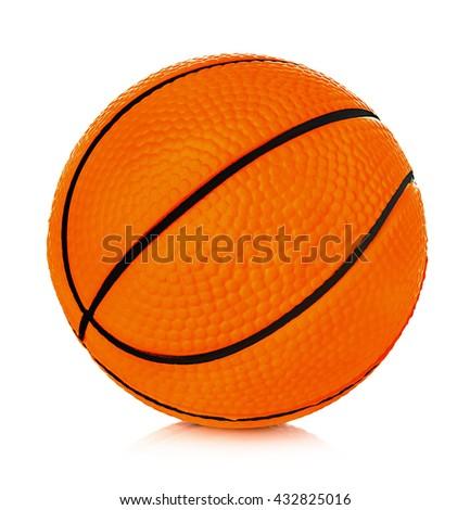 Orange basket ball close-up isolated on a white background. - stock photo
