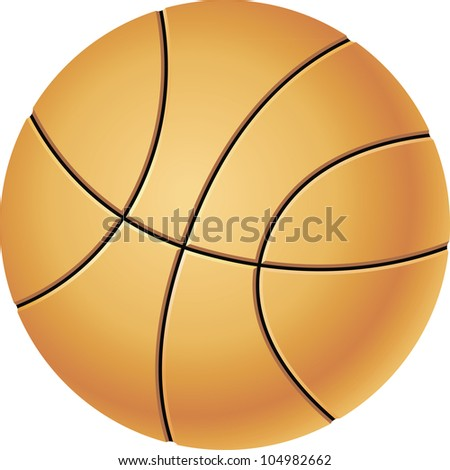 Orange basketball on the white background - stock photo