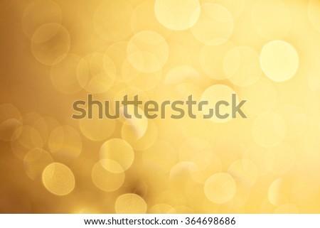 Orange, bokeh lights background - stock photo