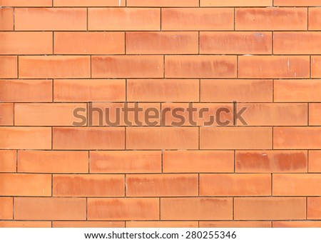 orange brick wall texture and background - stock photo