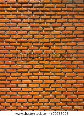 Orange Brick Wallpaper Texture