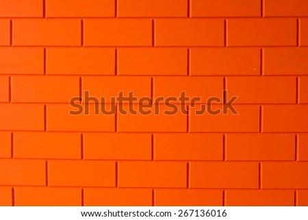 Orange bricks background - stock photo