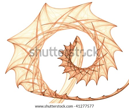 Orange brown spiral with spines - stock photo