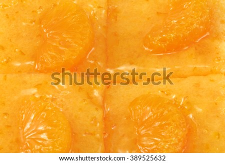 Orange cake background