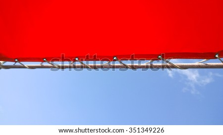 orange canvas and sky - stock photo