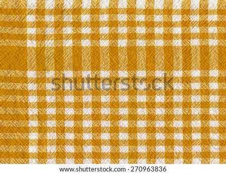 orange checked fabric tablecloth