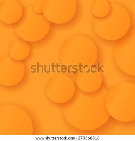 Orange Circle Modern Background. Abstract Circle Pattern - stock photo