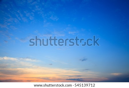 Orange cloudy sky background