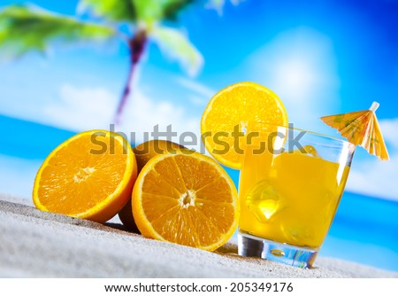 Orange cocktail drink