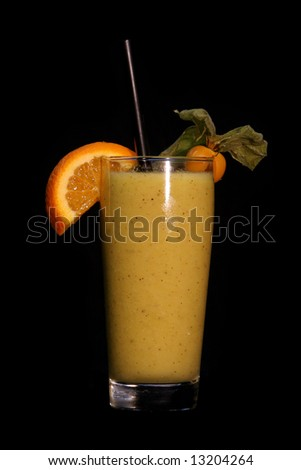 Orange Cocktail isolated on black