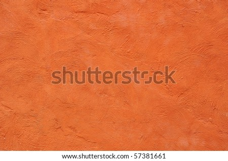 Orange color painting background - stock photo