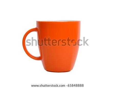 Orange cup - stock photo