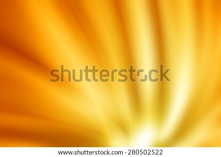 orange curve ray abstract background - stock photo