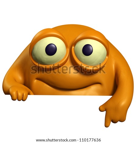 orange cute beast - stock photo