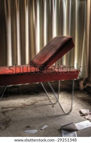Orange Doctors Table - stock photo