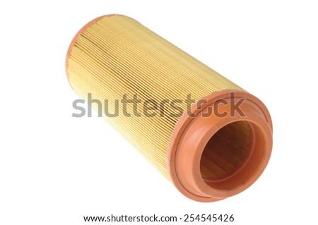 orange filter for vehicles isolated on white  - stock photo