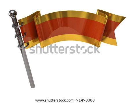 Orange flag isolated on white background