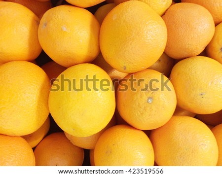 Orange fruit for sale at market stall