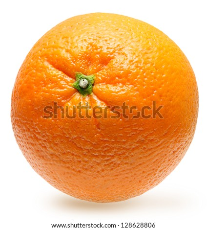 Orange fruit isolated - stock photo