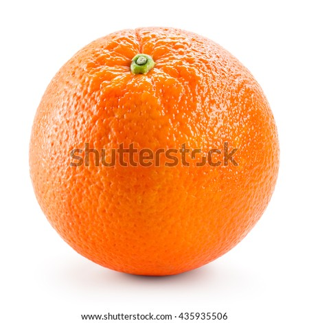 Orange fruit isolated on white.