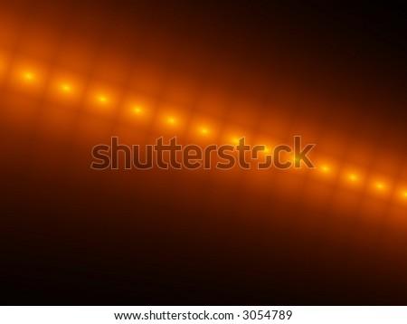 orange glowing cubes - stock photo