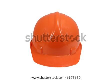 Orange Hard Hat - stock photo