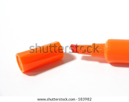 Orange highlighter