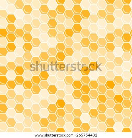 Orange honeycomb background. Abstract geometric illustration. Raster version. - stock photo