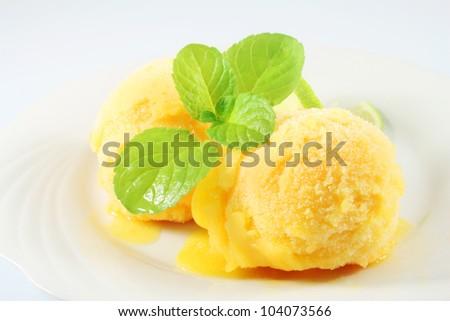 orange ice cream - stock photo