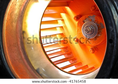 Orange impeller - stock photo