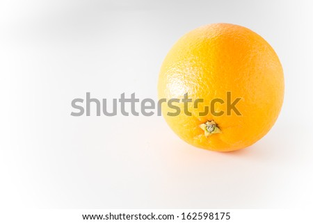 orange in isolated