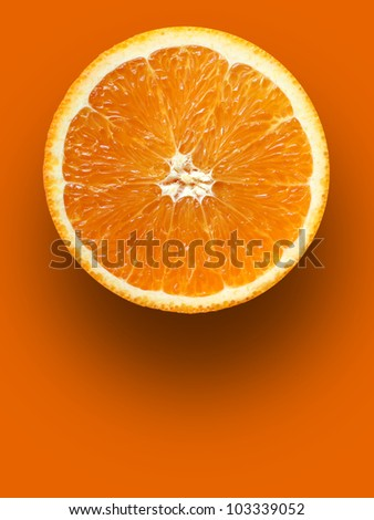 orange in orange - stock photo