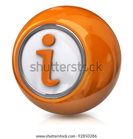 Orange information icon - stock photo