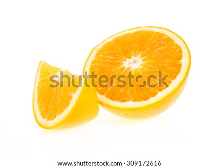 orange isolated on white background - stock photo