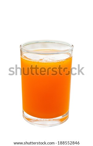 Orange juice in glass isolate on white background with clipping path - stock photo