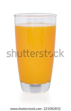 Orange juice. Isolated on white background - stock photo