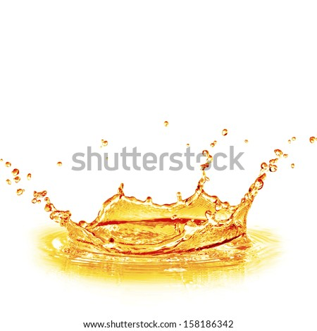 orange juice splash - stock photo