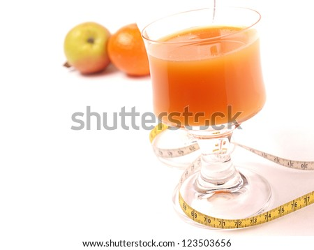 Orange Juice with a glass of water