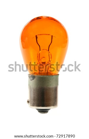orange light bulb - stock photo