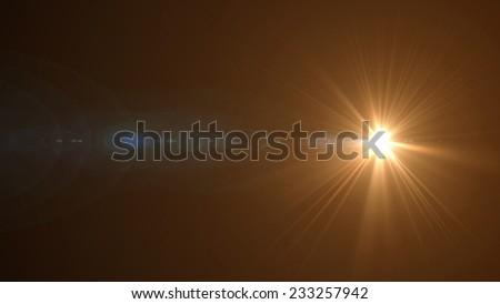 Orange light on black background - stock photo